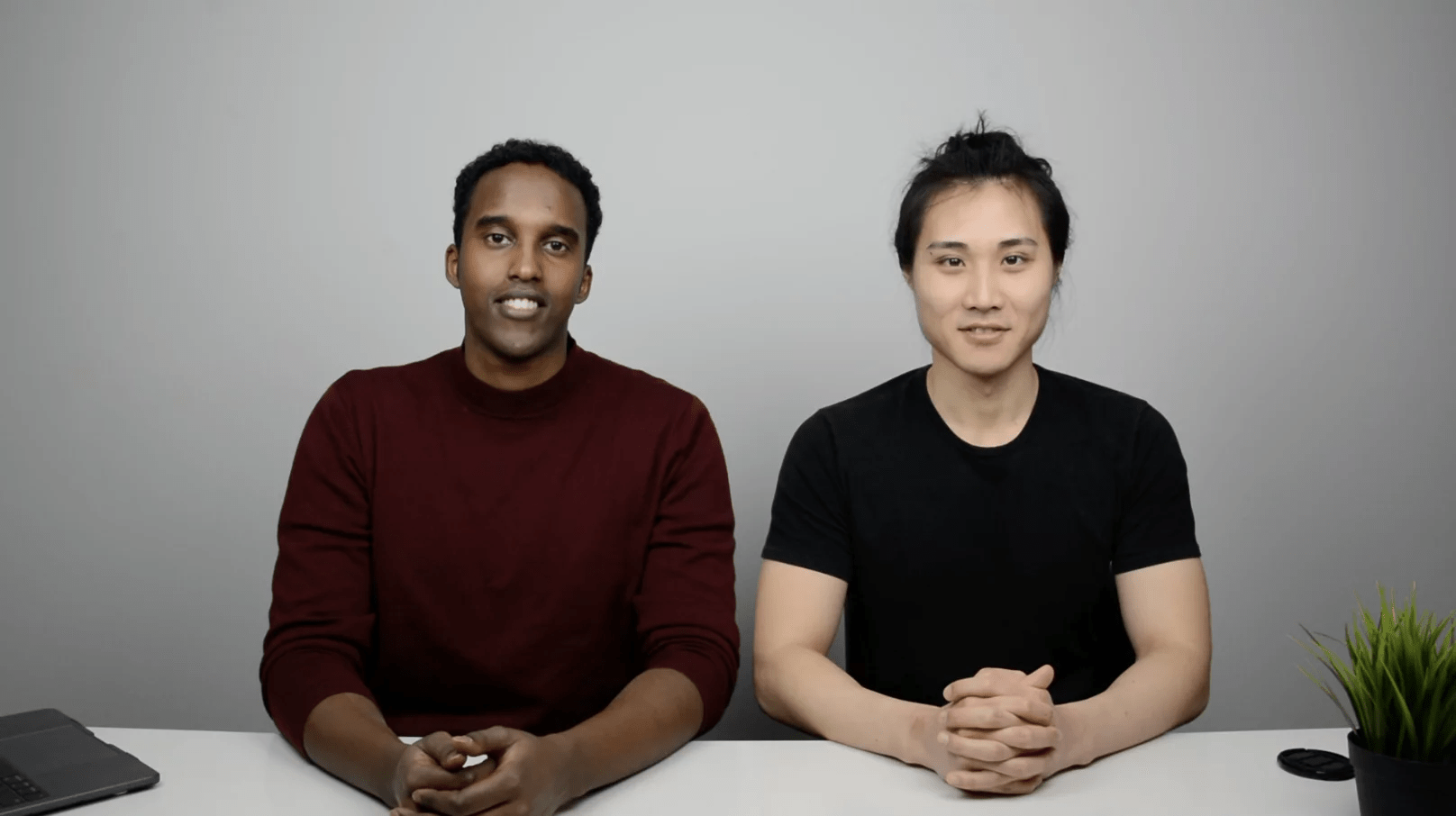 In-person video of Jing and Hassan
